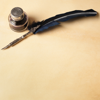 Pen Quill and Parchment